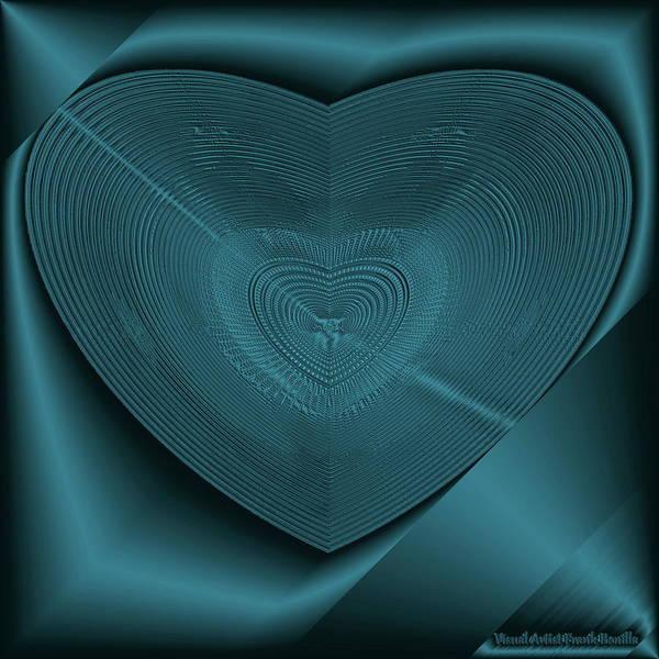 Digital Art - Blue Steel Heart by Visual Artist Frank Bonilla