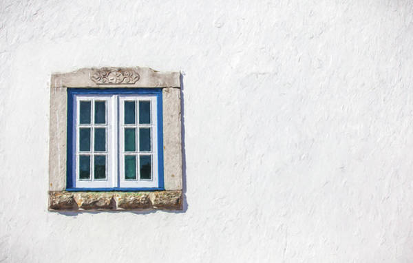 Blue Stone Window Of Obidos Art Print