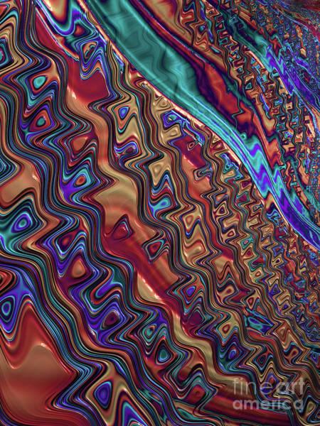 Wall Art - Digital Art - Blue Streak by John Edwards