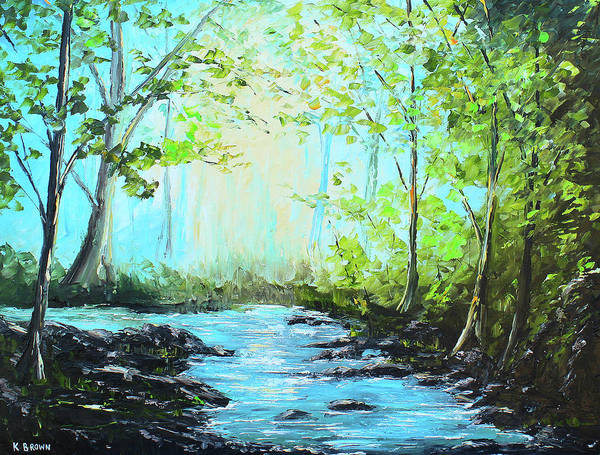 Painting - Blue Stream by Kevin Brown