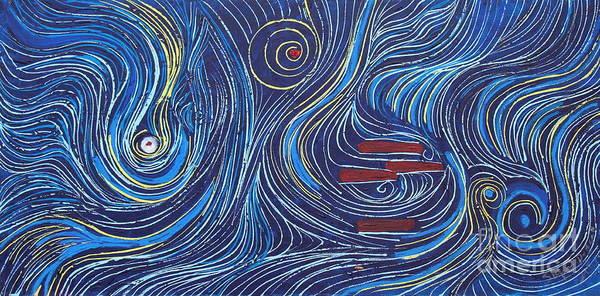 Painting - Blue Strings by Stefan Duncan