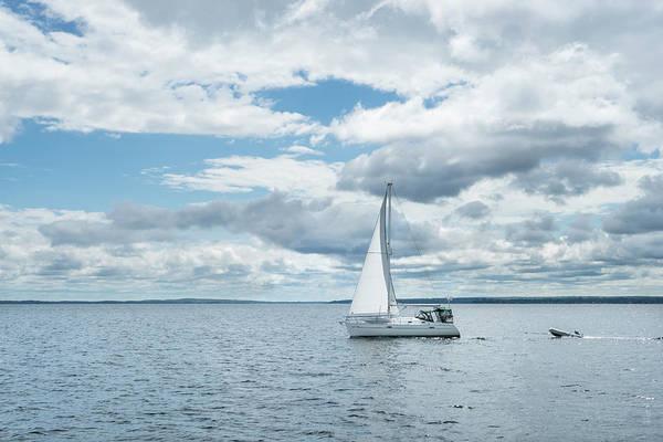 Photograph - Blue Summer Sail - by Georgia Mizuleva