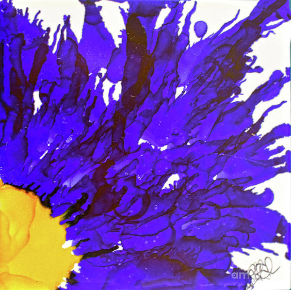Painting - Blue Sunflower by Christine Dekkers