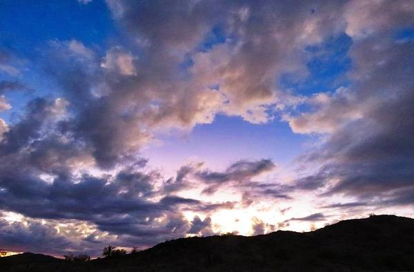 Photograph - Blue Sunset by Judy Kennedy