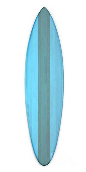 Digital Art - Blue Surf Board by Edward Fielding