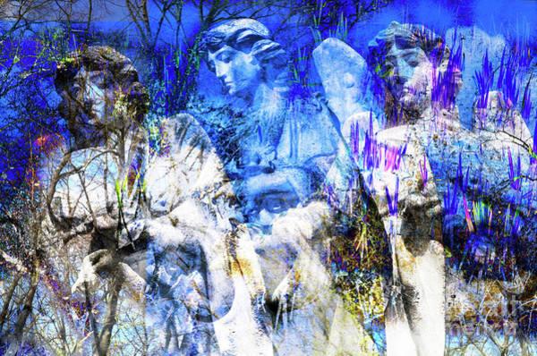 Digital Art - Blue Symphony Of Angels by Silva Wischeropp