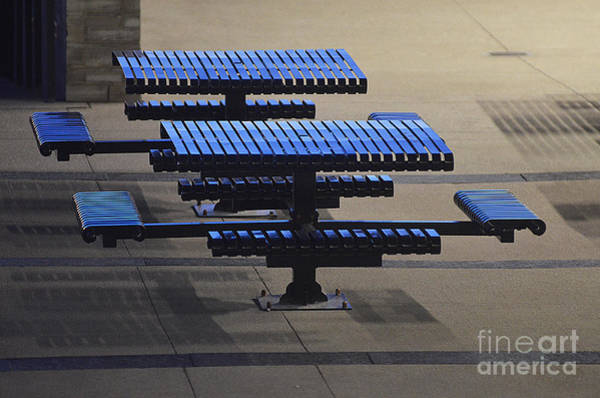 Photograph - Blue Tables - 6017 by Steve Somerville