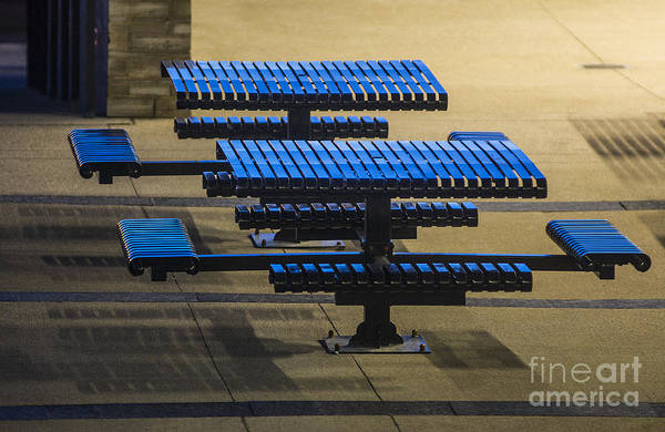 Photograph - Blue Tables - 6720 by Steve Somerville