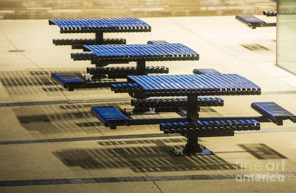 Photograph - Blue Tables-6747a by Steve Somerville