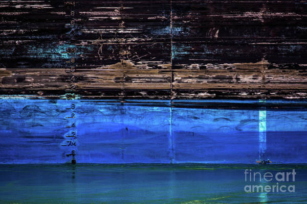 Blue Tanker Art Print