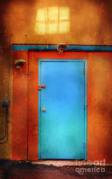 Photograph - Blue Taos Door by Craig J Satterlee