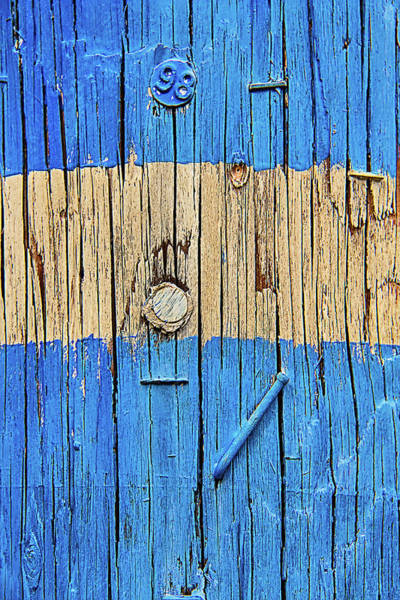 Staples Photograph - Blue Telephone Pole by Garry Gay