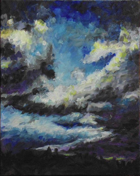 Painting - Blue Tempest by Susan Moore