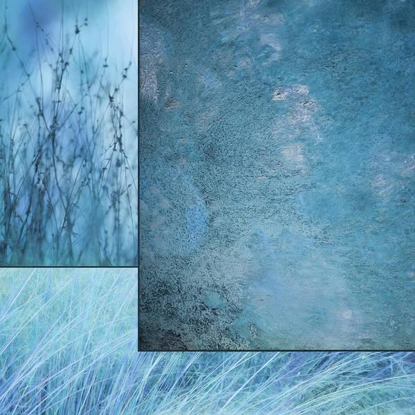 Marijuana Mixed Media - Blue Textures 1 by Lori Deiter