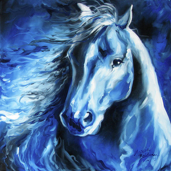 Painting - Blue Thunder  by Marcia Baldwin