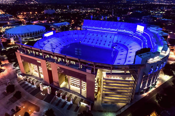 Photograph - Blue Tiger Stadium by Andy Crawford
