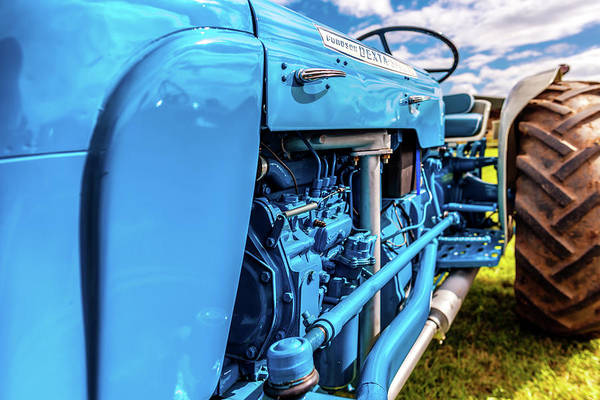 Photograph - Blue Tractor by Nick Bywater