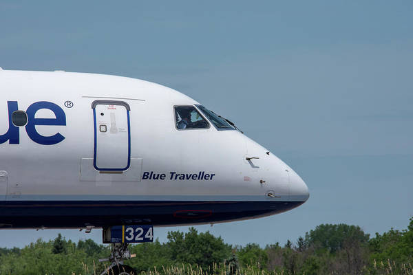 Jetblue Wall Art - Photograph - Blue Traveller by Guy Whiteley