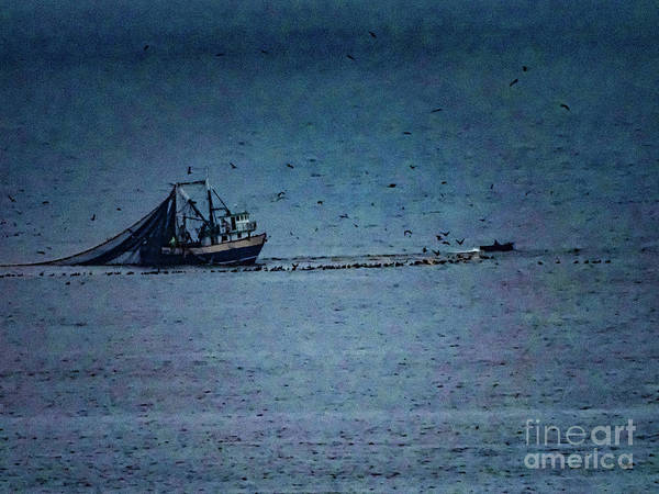 Photograph - Blue Trawler 1 by Camille Pascoe