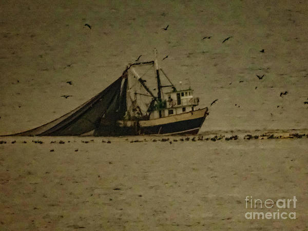 Photograph - Blue Trawler 2 by Camille Pascoe