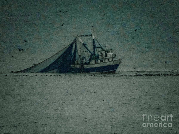 Photograph - Blue Trawler 3 by Camille Pascoe