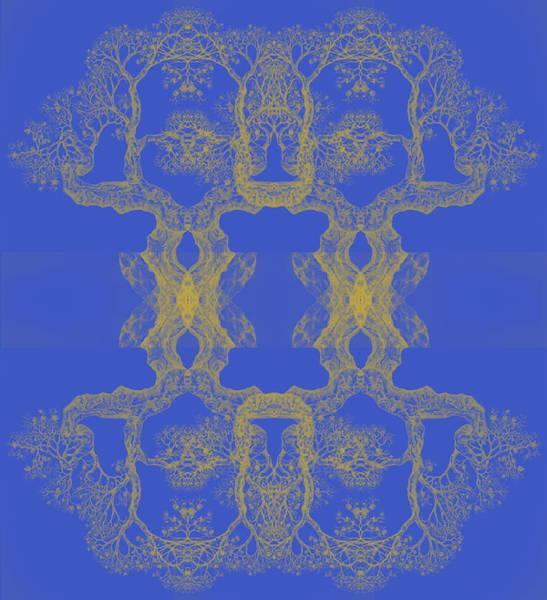 Blue Tree 14 Hybrid 4 Art Print