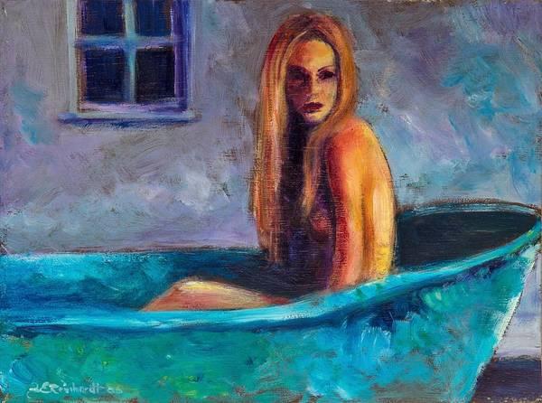 Painting - Blue Tub Study by Jason Reinhardt