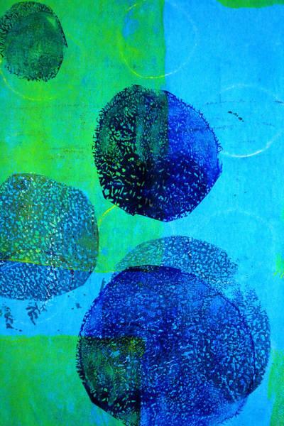 Ultramarine Blue Painting - Blue Tumble by Nancy Merkle
