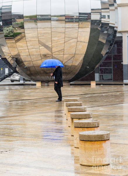 Photograph - Blue Umbrella by Colin Rayner