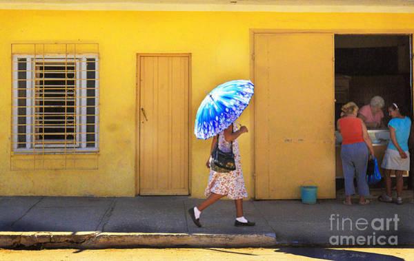 Photograph - Blue Umbrella Girl by Craig J Satterlee