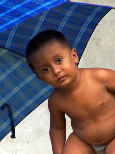 Photograph - Blue Umbrella by Jennifer Robin