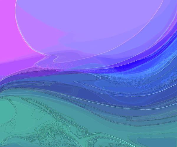Digital Art - Blue Valley by Gina Harrison
