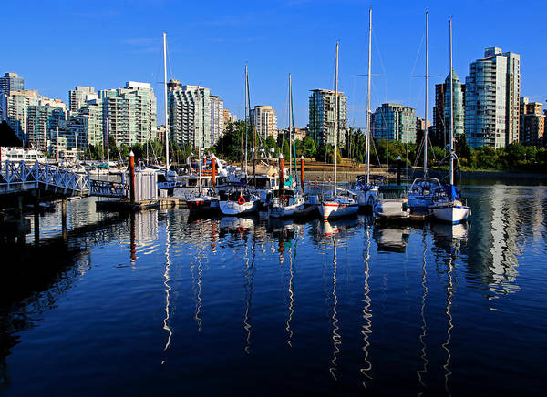 Metro Vancouver Wall Art - Photograph - Blue Vancouver by Christopher McKenzie