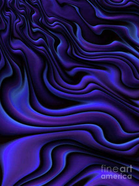 Current Wall Art - Digital Art - Blue Velvet by John Edwards