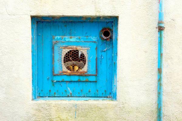 Drainage Photograph - Blue Ventilator Panel by Tom Gowanlock