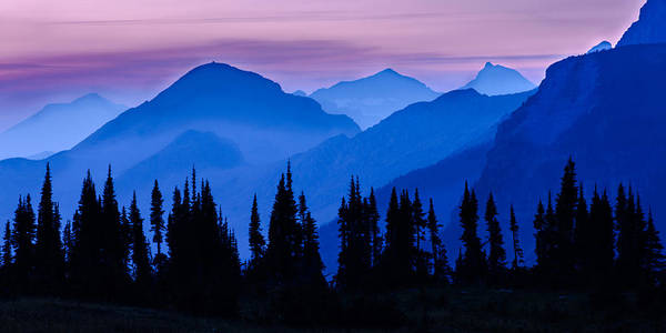 Mountain Sunset Photograph - Blue Wall by Mike Lang