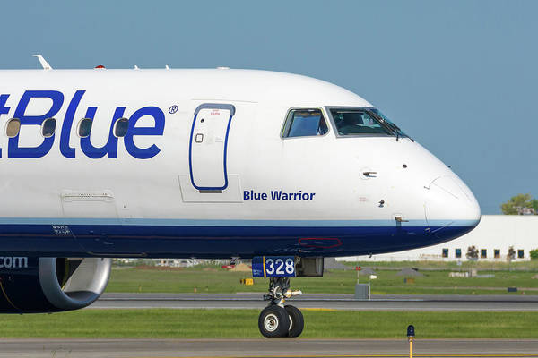 Jetblue Wall Art - Photograph - Blue Warrior by Guy Whiteley