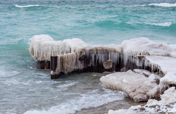 Photograph - Blue Water And Ice by Fran Riley