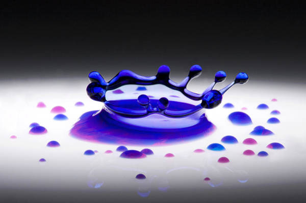 Wall Art - Photograph - Blue Water Drop 2 by Michael Dykstra