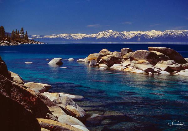 Tahoe Photograph - Blue Water Lake Tahoe by Vance Fox