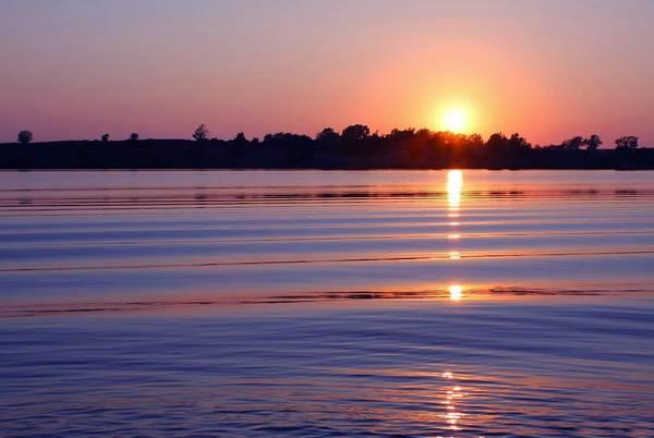 Wall Art - Photograph - Blue Water Sunset by Jim  Darnall