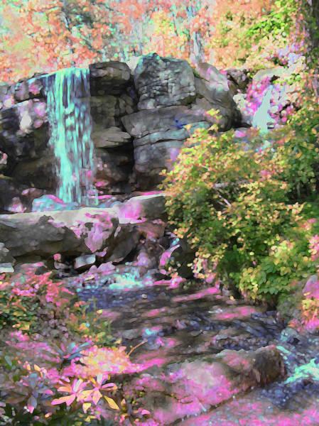 Photograph - Blue Waterfall by Anne Cameron Cutri