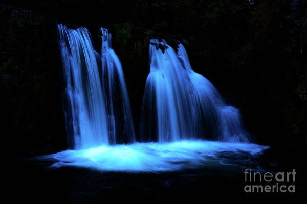 Photograph - Blue Waterfall by Michael Cross