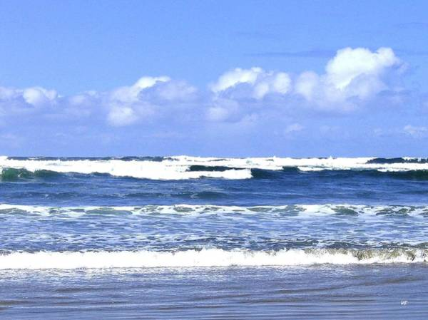 Whitecaps Photograph - Blue Waters by Will Borden