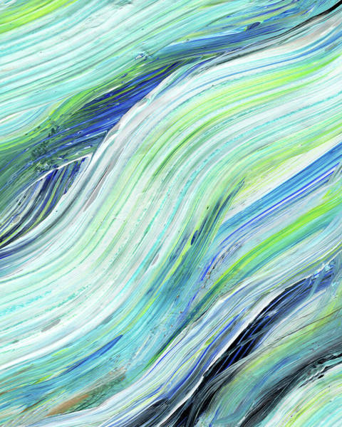 Painting - Blue Wave Abstract Art For Interior Decor Vii by Irina Sztukowski