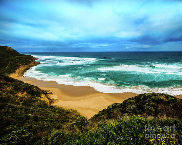 Wall Art - Photograph - Blue Wave Beach by Perry Webster