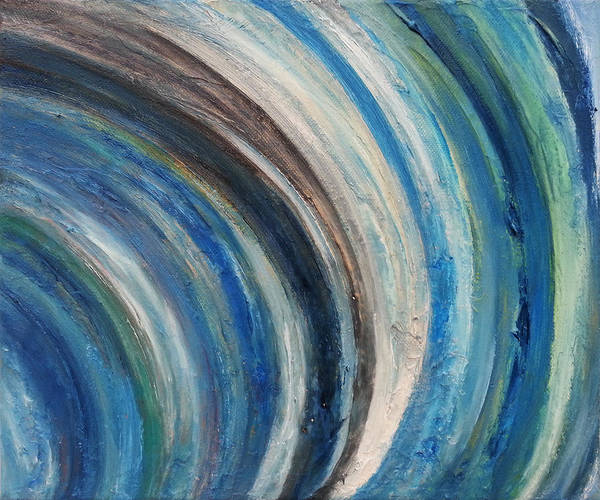 Skyscape Painting - Blue Wave by Kathleen Wong