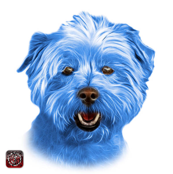 Mixed Media - Blue West Highland Terrier Mix - 8674 - Wb by James Ahn