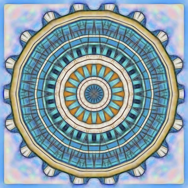 Digital Art - Blue Wheeler 1 by Wendy J St Christopher