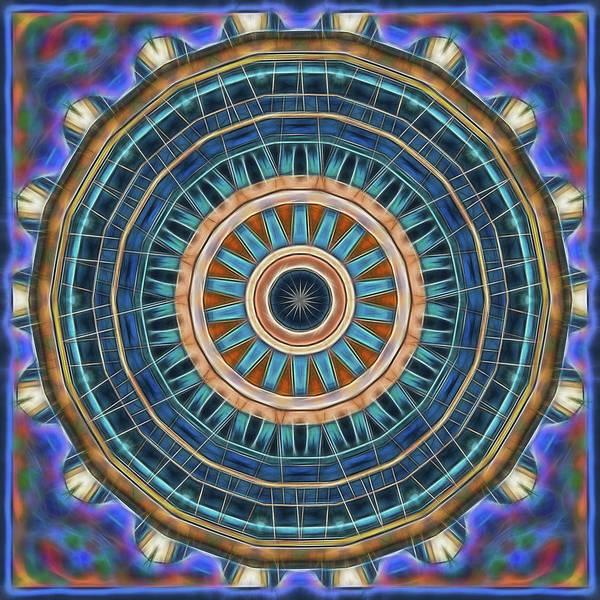Digital Art - Blue Wheeler 2 by Wendy J St Christopher